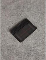 Burberry Horseferry Check Card Case, Black