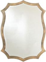 One Kings Lane Scalloped Mirror, Gold