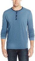 Calvin Klein Jeans Men's Beach Henley Long Sleeve Knit Shirt