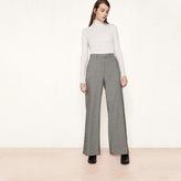 Maje Wool jacquard wide-leg trousers