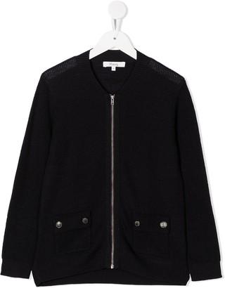 Bonpoint Wool-Knit Bomber Jacket