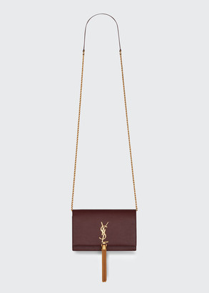 Saint Laurent XS Kate Monogram Grain de Poudre Wall on Chain