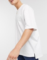 Esprit oversized boxy fit t-shirt in white