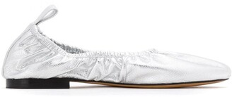 Studio Chofakian Leather Elasticated Pumps