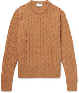 Ami Cable-Knit Mélange Wool Sweater