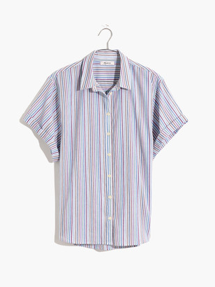Madewell Tacked Sleeve Button Up Shirt