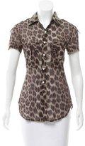Ter Et Bantine Leopard Print Button-Up Top w/ Tags