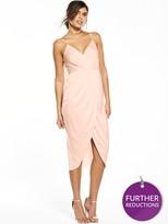 Very Satin Cami Wrap Dress