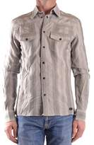 Richmond Men's Grey Cotton Shirt.