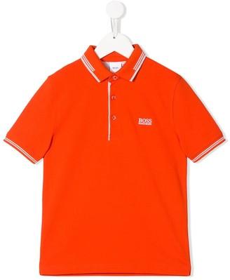 Boss Kids Logo Embroidered Polo Shirt