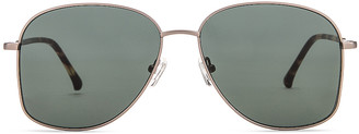 Dries Van Noten Metal Aviator Sunglasses in T Shell & Green | FWRD