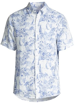 Onia Jack Riviera Linen Sport Shirt