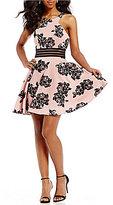 Jodi Kristopher Flocked Floral Dress