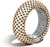 John Hardy Women's Dot 22MM Cuff in Sterling Silver and 18K Gold