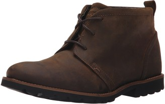 Rockport Men's Charson Brown Oiled Leather 7.5 W (EE)-7.5 W