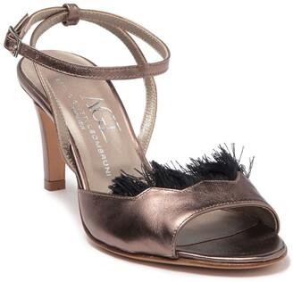 AGL Faux Feathered Open Toe Sandal