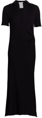 Helmut Lang Retro Rib Polo Maxi Dress