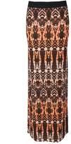 Select Fashion Fashion Womens Orange Mirror Aztec Maxi Skirt - size 6