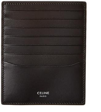 Celine Vertical Leather Card Holder