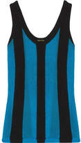 ADAM by Adam Lippes Paneled Terry And Open-knit Top - large