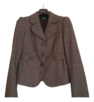 Benetton Brown Wool Jackets
