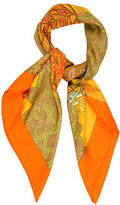 Hermes Art Des Steppes Detail Silk Scarf