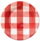 One Kings Lane Set of 4 Gingham Melamine Salad Plates - Red/White