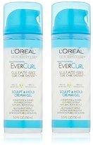 L'Oreal EverCurl Sculpt and Hold Cream Gel, 5.0 Fluid Ounce (Pack of 2)