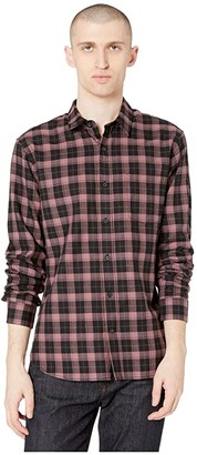 Vince Multi Plaid Long Sleeve Button Down (Vintage Brick) Men's Clothing