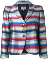 Armani Collezioni striped blazer - women - Polyester/Viscose - 40