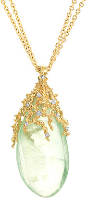 Michael Aram Ocean 18K Diamond & Green Florite 30In Necklace
