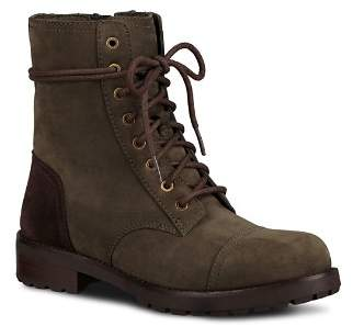 UGG Women's Kilmer Water Resistant Leather Lace Up Booties