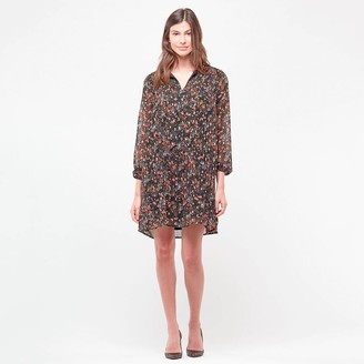 Le Temps Des Cerises Shift Shirt Dress in Floral Print