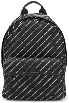 Karl Lagerfeld Paris K/Stripe logo backpack
