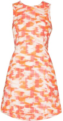 Three Graces Trinny ikat-print mini dress