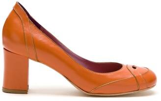 Sarah Chofakian Swan leather pumps