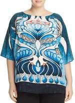 Marina Rinaldi Berenice Printed Silk Blouse