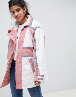 Asos Design DESIGN anorak raincoat with reflective strips-Multi