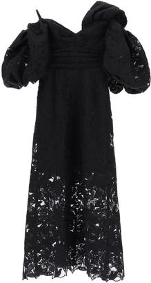Self-Portrait One-Shoulder Lace Maxi Dress