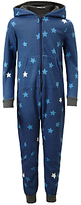 John Lewis Children's Sweat Star Print Onesie, Blue