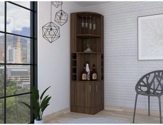 Ebern Designs Lollis Bar Cabinet Color: Espresso