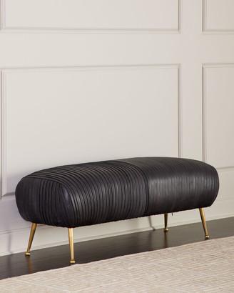 REGINA ANDREW Beretta Modern Leather Bench, Black