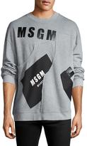 MSGM Cotton Logo Print Crewneck Sweatshirt