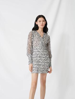 Maje Shirred printed dress