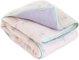 Burt's Bees Watercolor Dragonfly Organic Reversible Baby Quilt
