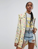 Asos Pac a Trench in Bright Conversational Print