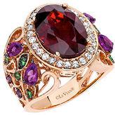LeVian 14K Strawberry Gold Garnet and Multi Stone Ring