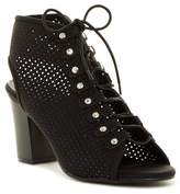ANNA Cara Perforated Lace Up Bootie