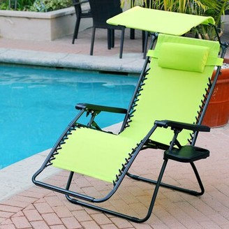 Zero Gravity Johns Folding Chair Brayden Studio Fabric: Lime Green