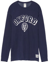 PINK University Of Oxford Long Sleeve Campus Tee